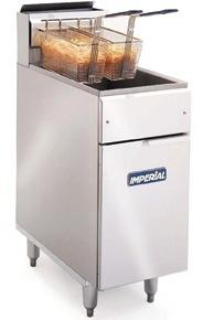 Special Offer:IMPERIAL IFS-40 SINGLE PAN DOUBLE BASKET FREESTANDING FRYER NAT GAS 31KW 22 LITRE