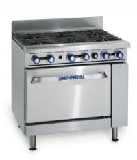 Special Offer:IMPERIAL IR6 6 BURNER COOKER WITH OVEN ON CASTORS NAT GAS 59KW