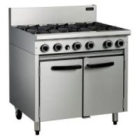 Special Offer:BLUE SEAL CR9D COBRA 6 BURNER COOKER WITH OVEN NAT GAS CASTORS AT REAR 40.5KW